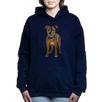 FIN-fawn-pit-bull-TRANS2 Women's Hooded Sweats