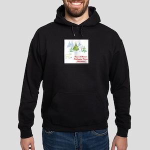 FIN-bedlington-terrier-christmas Hoodie (dark)