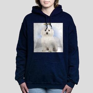 Angel Bichon Frise Women's Hooded Sweatshirt