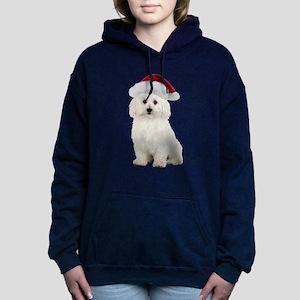 Bichon Frise Christmas Women's Hooded Sweatshirt