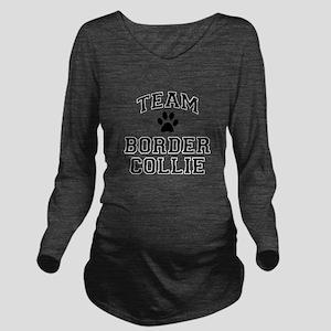 Team Border Collie Long Sleeve Maternity T-Shirt