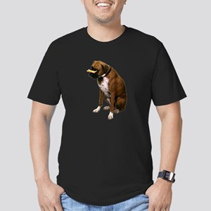 boxer-bone-photo.pn... Men's Fitted T-Shirt (dark)