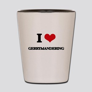 I Love Gerrymandering Shot Glass