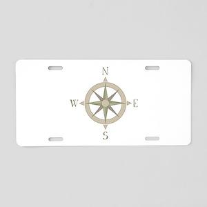 Compass Aluminum License Plate