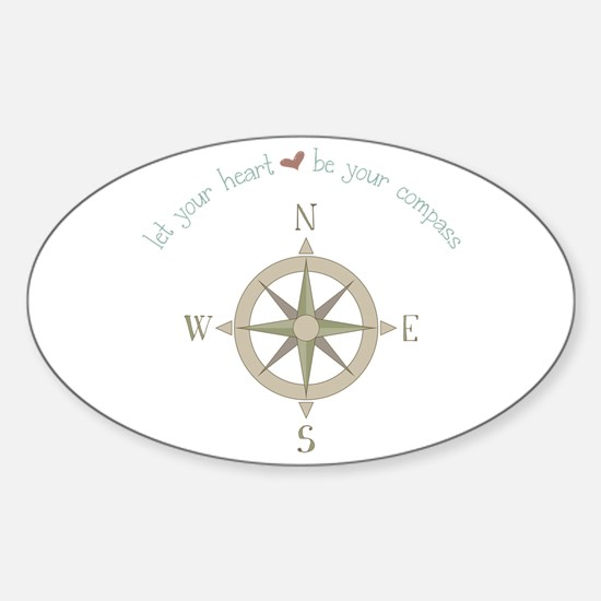 Heart Your Compass Decal