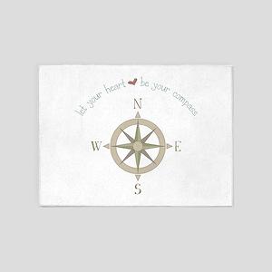 Heart Your Compass 5'x7'Area Rug