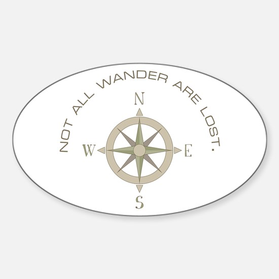 Not All Wander Decal