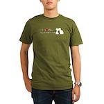 I Love My Girlfriend Organic Men's T-Shirt (dark)
