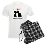 I Love My Girlfriend Men's Light Pajamas