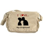 I Love My Girlfriend Messenger Bag
