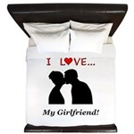 I Love My Girlfriend King Duvet