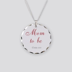 Mom To Be Pregnancy Necklace Circle Charm