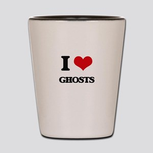 I Love Ghosts Shot Glass
