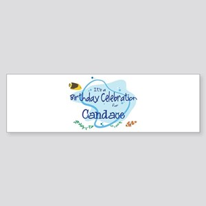 Celebration for Candace (fish Bumper Sticker