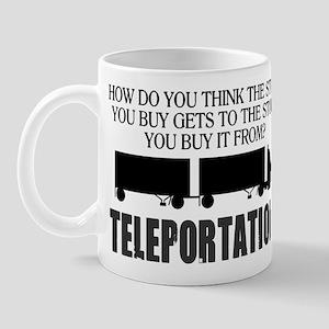 Teleportation Truck Driver Mug