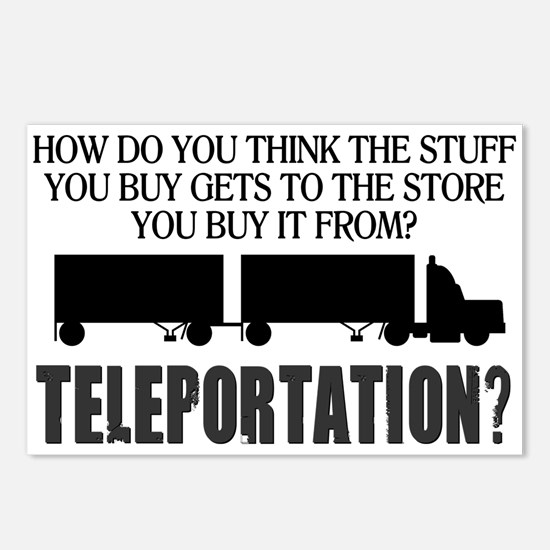 Teleportation Truck Drive Postcards (Package of 8)