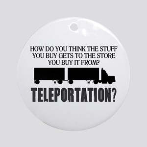 Teleportation Truck Driver Ornament (Round)
