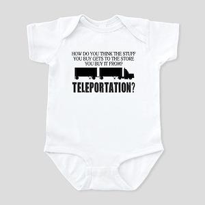 Teleportation Truck Driver Infant Bodysuit