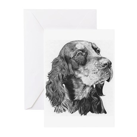 Gordon Setter Greeting Cards (6)