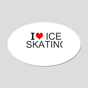 I Love Ice Skating Wall Decal