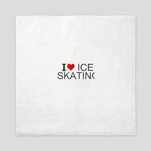 I Love Ice Skating Queen Duvet