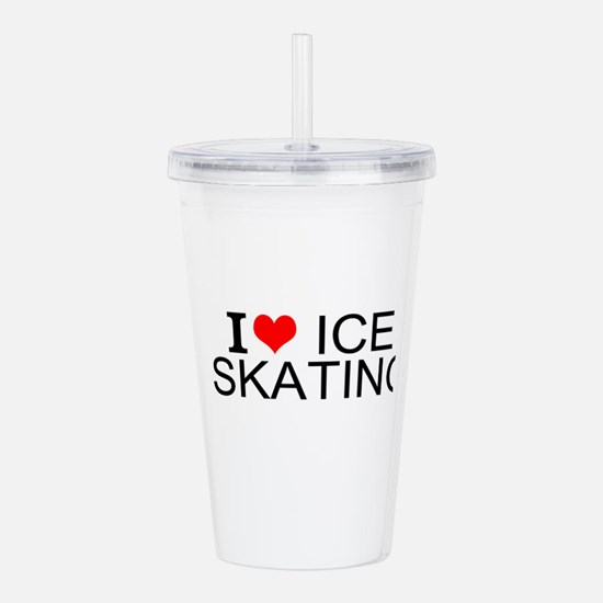 I Love Ice Skating Acrylic Double-wall Tumbler