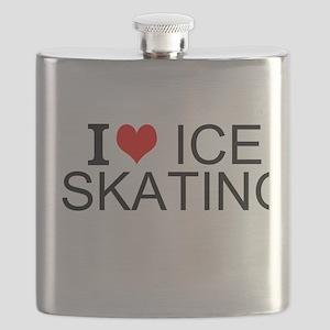 I Love Ice Skating Flask