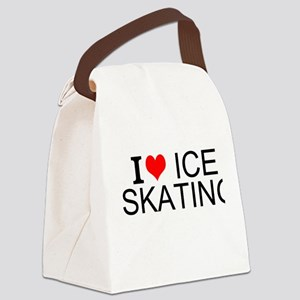 I Love Ice Skating Canvas Lunch Bag