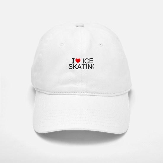I Love Ice Skating Baseball Baseball Baseball Cap