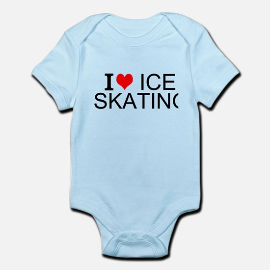 I Love Ice Skating Body Suit