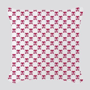 Dirty Girly Woven Throw Pillow