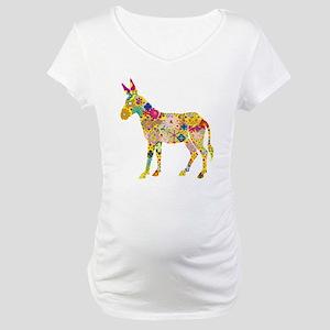 Flower Donkey Maternity T-Shirt