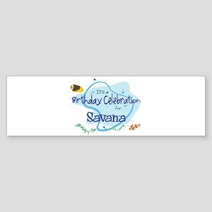 Celebration for Savana (fish) Bumper Sticker