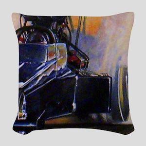 Auto Racing Woven Throw Pillow
