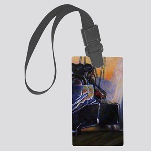 Auto Racing Large Luggage Tag