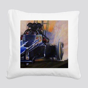 Auto Racing Square Canvas Pillow