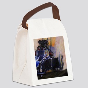 Auto Racing Canvas Lunch Bag