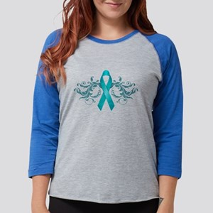 Teal Ribbon Long Sleeve T-Shirt