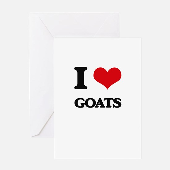 I Love Goats Greeting Cards