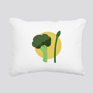Broccoli Asparagus Rectangular Canvas Pillow