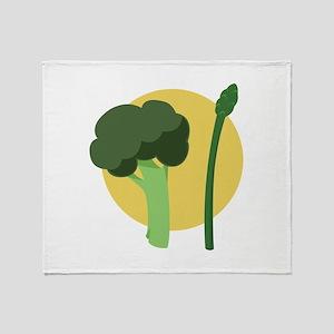 Broccoli Asparagus Throw Blanket
