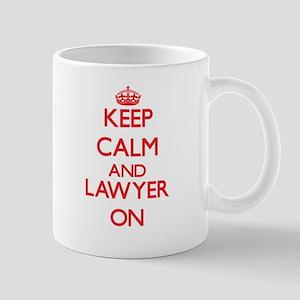 Keep Calm and Lawyer ON Mugs