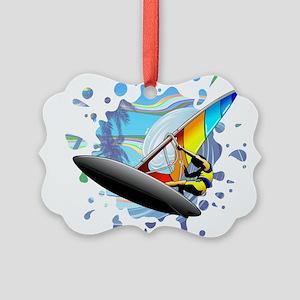 Windsurfer on Ocean Waves Ornament
