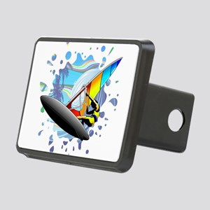 Windsurfer on Ocean Waves Hitch Cover