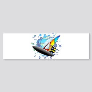 Windsurfer on Ocean Waves Bumper Sticker