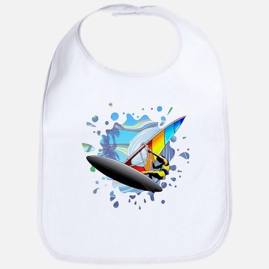 Windsurfer on Ocean Waves Bib