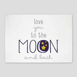 To The Moon 5'x7'Area Rug