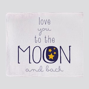 To The Moon Throw Blanket