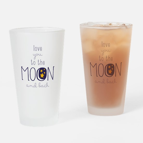 To The Moon Drinking Glass
