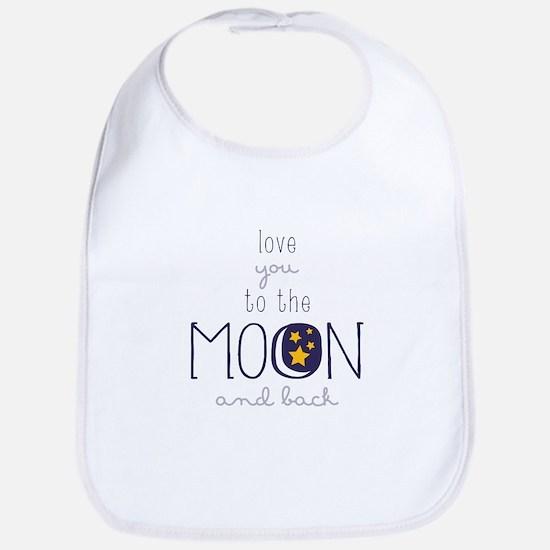 To The Moon Bib